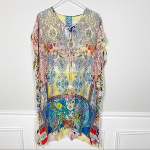 Johnny Was floral  cover-up midi dress